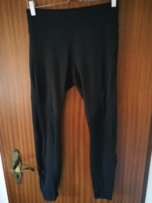 H&M Leggings nero Tessuto misto
