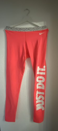 Sportleggins Jogginghose neon pink just do It Nike sportkleidung