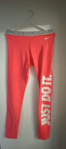 Sportleggins Jogginghose neon pink just do It Nike sportkleidung
