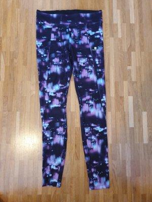 Domyos Pantalone da ginnastica viola-grigio