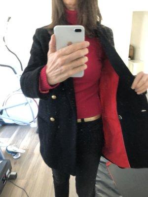 Esprit Cappotto corto nero-rosso scuro