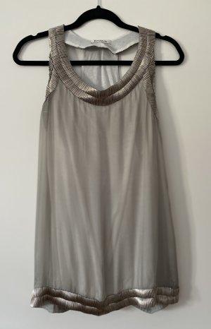 Divina Tank Top light grey silk