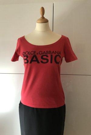Sportlich-elegantes T-Shirt von Dolce & Gabbana in rot Gr.44It,38D(36,38,40)