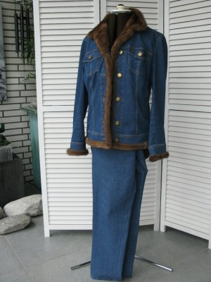 Tailleur pantalone blu Cotone