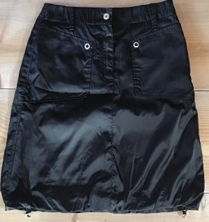 Marc Cain Silk Skirt black-silver-colored