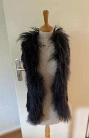 Marc Aurel Fur vest black