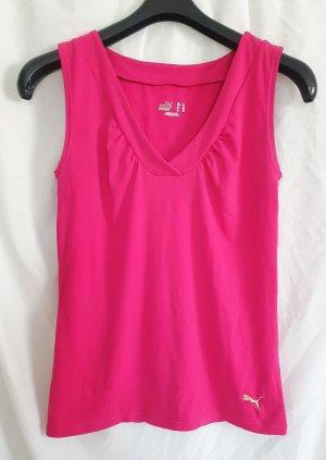 Sportlich-stylisches Funktionstop von PUMA aus weichem Stretchmaterial in frischem pink, Größe L