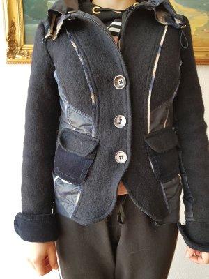 Crisca Wool Blazer natural white-dark blue