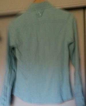 Bonita Crash Blouse turquoise cotton