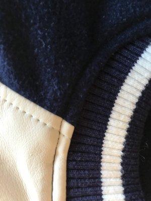 Jake*s Blouson blanc cassé-bleu foncé tissu mixte