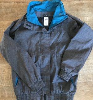 Cleptomanicx Between-Seasons Jacket grey-light blue