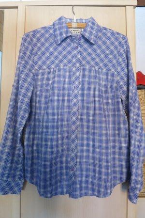 Casual W.E.A.R Camicia a scacchi viola-beige chiaro Cotone