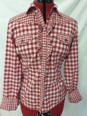 ESP Geruite blouse rood Katoen