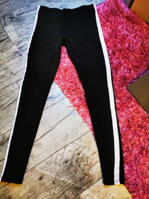 ♥ sportliche Leggings,  seitlich weißer Streifen, eng anliegend Gr. 34 XS