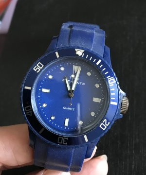 Self-Winding Watch blue mixture fibre