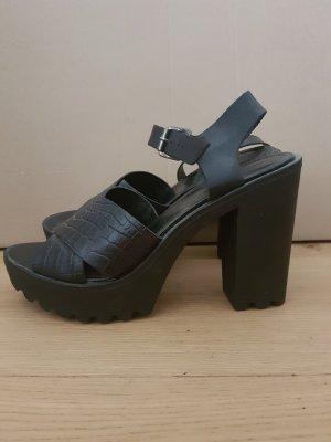 Alisha Sandales à lanière noir faux cuir