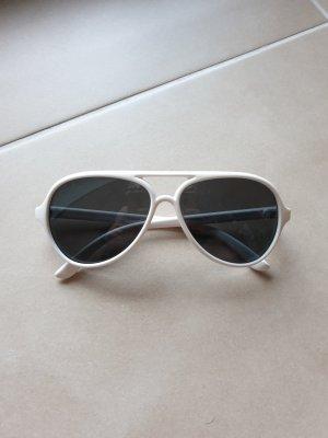 sportliche Sonnenbrille in weiß