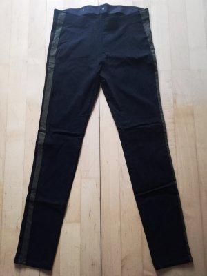 Takko Pantalon strech noir-gris vert