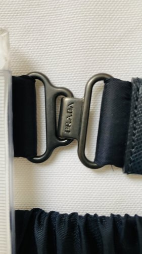 Prada Waist Belt dark blue-silver-colored