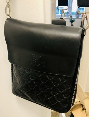 ECHT LEDER Crossbody bag black