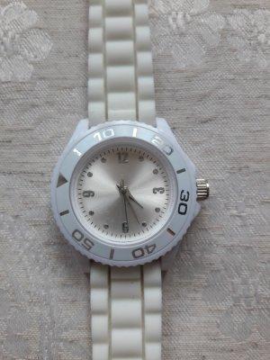 Sportliche Uhr in Weiß/ Creme