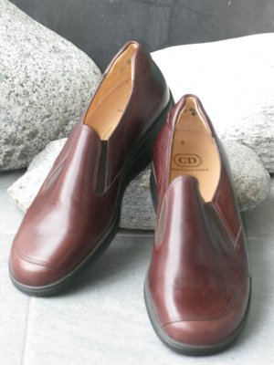 Christian Dietz Scarpa slip-on marrone-rosso Pelle