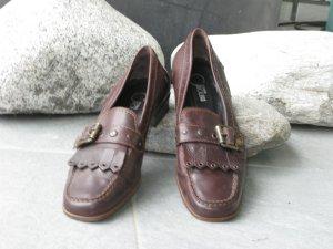 Donna Carolina Pantofola marrone scuro