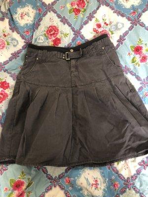 Calliope Skater Skirt grey-dark grey cotton