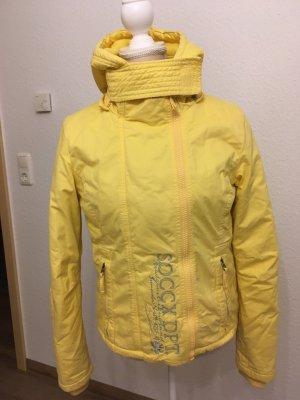Soxxc Chaqueta con capucha amarillo pálido