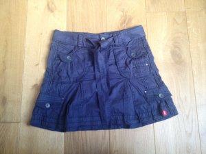 H&M Skater Skirt blue cotton