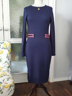 Esprit Vestido de tela de jersey azul