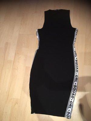 Robe stretch noir-blanc