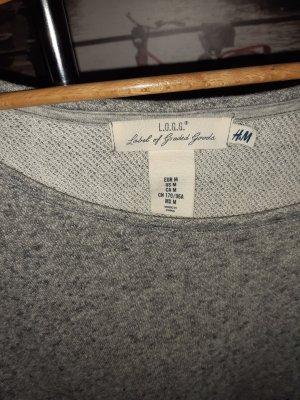 H&M Robe Sweat gris clair-gris