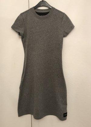 Calvin Klein Jeans Vestido de tela de jersey gris Algodón