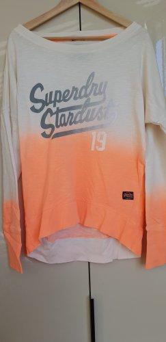 Superdry Boatneck Shirt natural white-neon orange