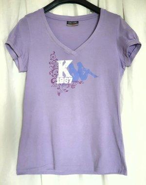 Kappa Maglia con scollo a V viola