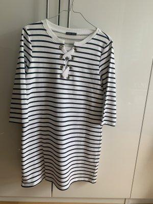 Joseph Janard Sukienka dresowa biały-ciemnoniebieski