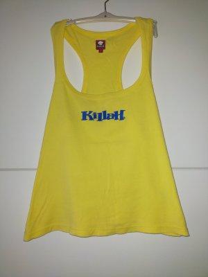 Killah Tanktop geel-blauw Katoen