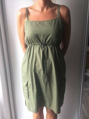 Colours of the World Summer Dress olive green cotton