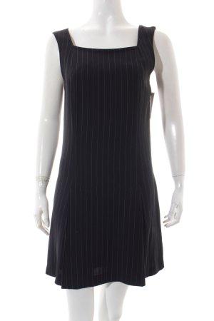 Sportmax A-Linien Kleid weiß-dunkelblau Nadelstreifen Elegant
