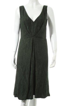 Sportmax Chiffonkleid dunkelgrün Elegant