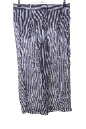 Sportmax Code Culottes weiß-schwarz Streifenmuster Casual-Look