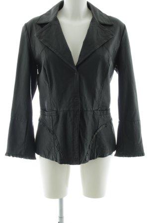 Sportmax Code Leather Blazer black casual look