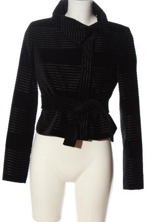 Sportmax Korte blazer zwart gestreept patroon zakelijke stijl