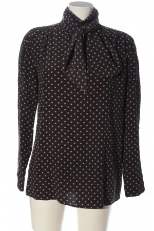 Sportmax Langarm-Bluse schwarz-pink Punktemuster Casual-Look