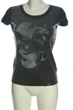 Sportmax Camicia fantasia nero-grigio chiaro Stampa a tema stile casual