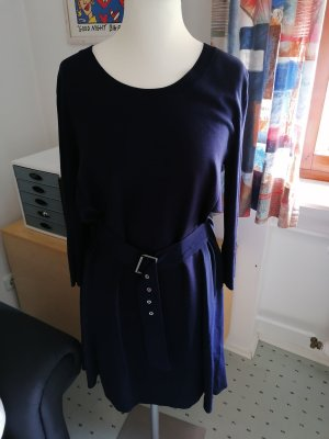 Sportmax Robe en laine bleu foncé