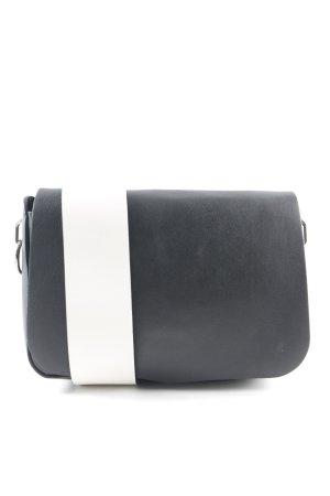 Sportmax Umhängetasche schwarz-weiß Colourblocking Elegant