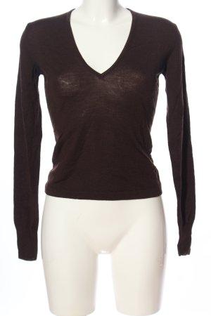 Sportmax V-Ausschnitt-Pullover braun Casual-Look