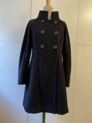 Sportmax Heavy Pea Coat dark blue-blue wool